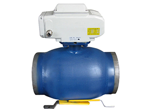 Q961F floating electric full welded ball valve