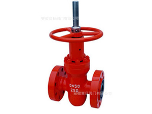 Oil and natural gas high pressure plate gate valve ZF series